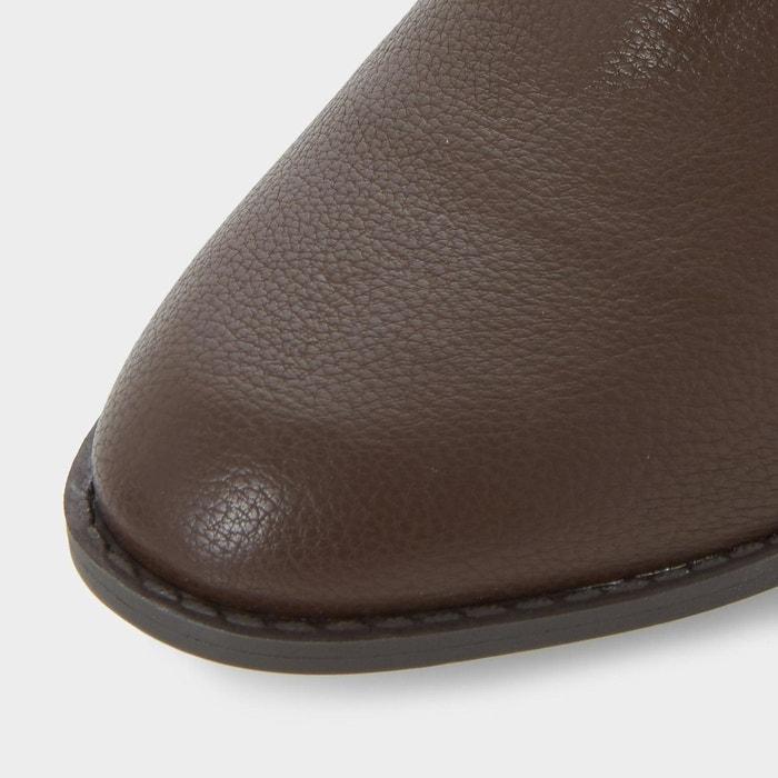 Bottines chelsea à bout en amande - paten marron synthetic Head Over Heels By Dune