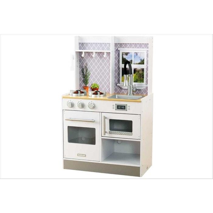 cuisine enfant en bois let s cook kid53395 blanc kidkraft la redoute. Black Bedroom Furniture Sets. Home Design Ideas