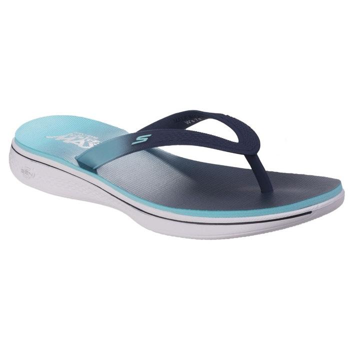 Sk14681  h2 goga splash tongs bleu marine/bleu clair Skechers