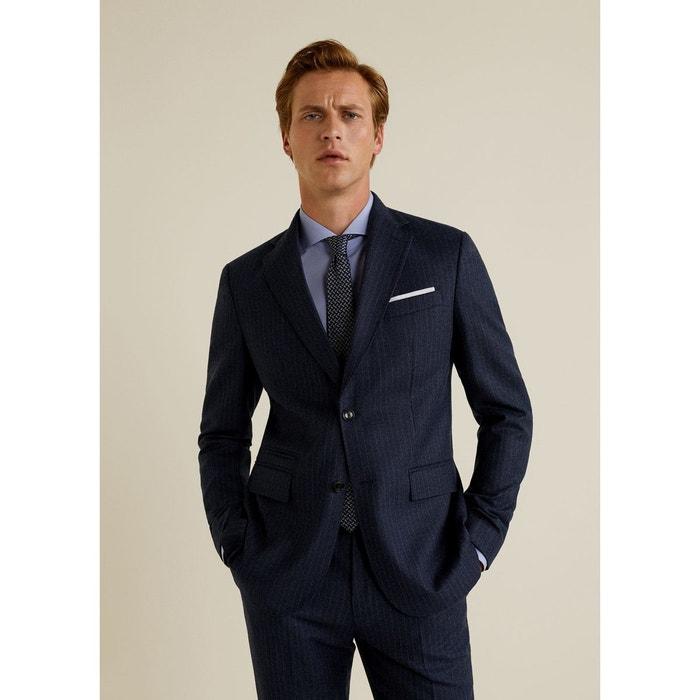 7901c13242324 Veste de costume slim-fit en laine bleu ciel Mango Man   La Redoute