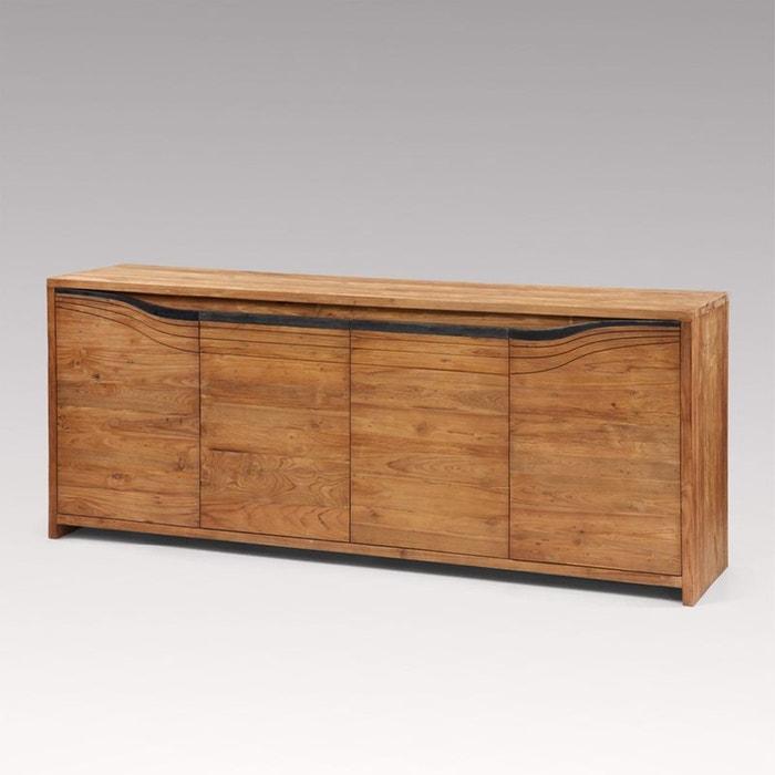 buffet en teck massif style contemporain bandung kha home. Black Bedroom Furniture Sets. Home Design Ideas