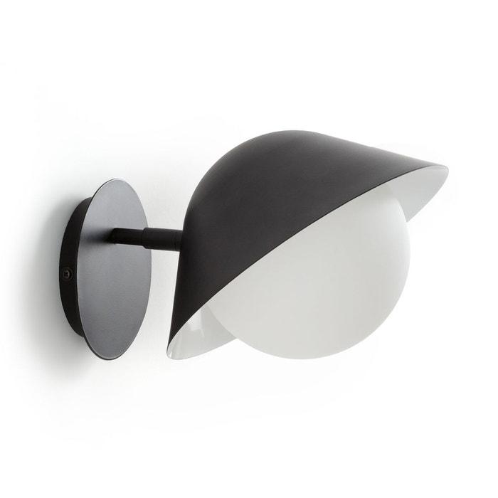 applique m tal et opaline calimeo noir la redoute interieurs la redoute. Black Bedroom Furniture Sets. Home Design Ideas