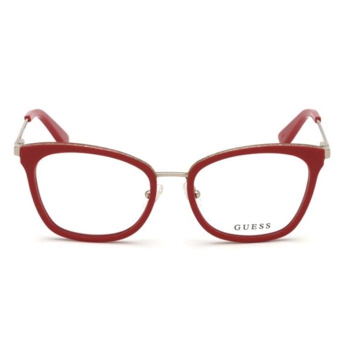 54ad03034f Lunettes de vue pour femme guess rouge gu 2706 068 52/17 rouge Guess   La  Redoute