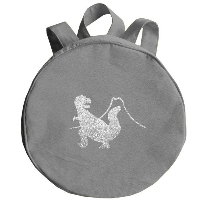 6a6ed4c2e5 Sac à dos gris dinosaure argent pailleté gris perle Les Griottes | La  Redoute