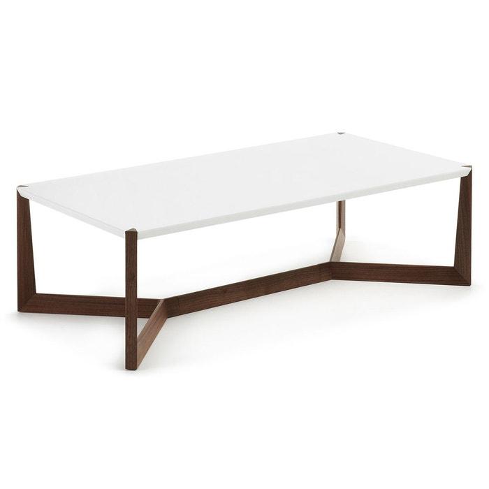 Table basse quatro noyer et blanc blanc marron kavehome la redoute - Table basse scandinave la redoute ...