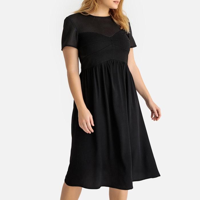 d87d9ec0b73b Flared mesh midi dress , black, Castaluna Plus Size   La Redoute