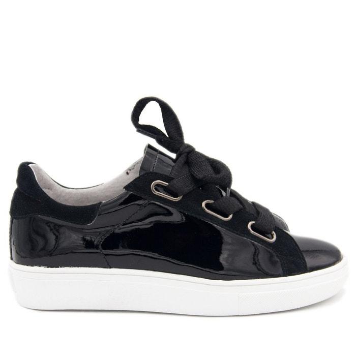 Sandales compensé en cuir noir Maria Barcelo Meilleur Choix DbrwzhexRR