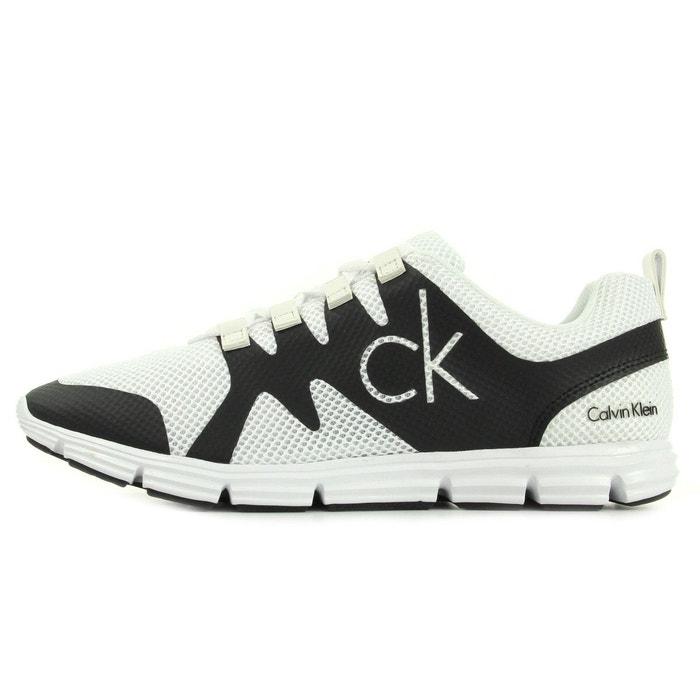 Baskets homme murphy mesh rubber spread white/ black  blanc/noir Calvin Klein  La Redoute