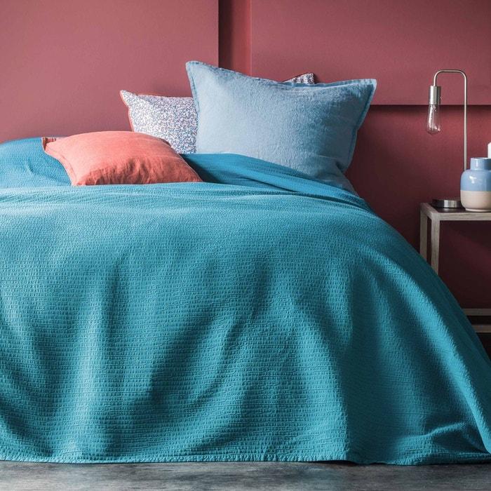 couvre lit 100 coton canard piquage pliss canard blanc cerise la redoute. Black Bedroom Furniture Sets. Home Design Ideas