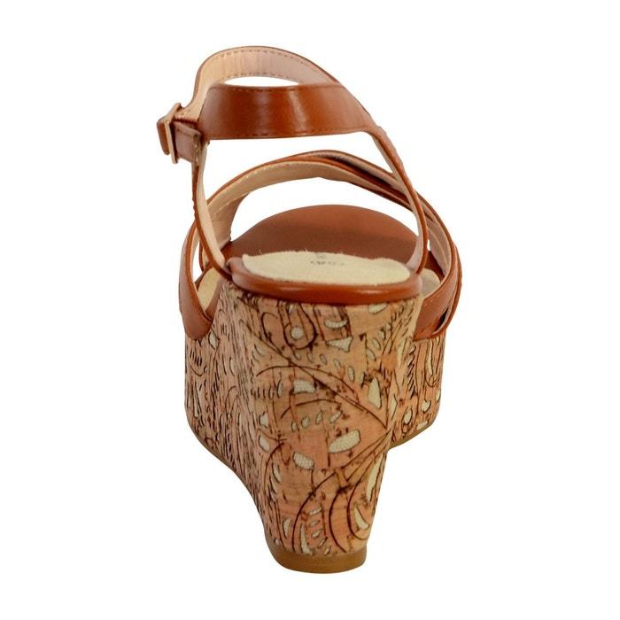 Sandale compensée marron The Divine Factory