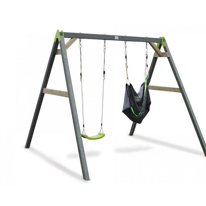 balancoire double exit aksent 2 sieges swingbag vert exit la redoute. Black Bedroom Furniture Sets. Home Design Ideas