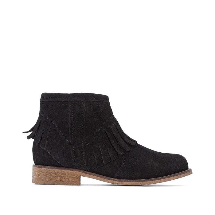 Leren boots met franjes 30-39  LA REDOUTE COLLECTIONS image 0