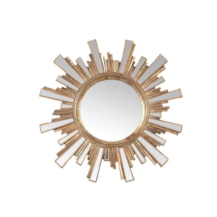 Miroir soleil clat dor or emde premium la redoute for Miroir eclat