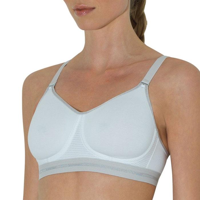Soutien-gorge moulé sans armature femme active coton secret de beauté  blanc 322c5cefc47