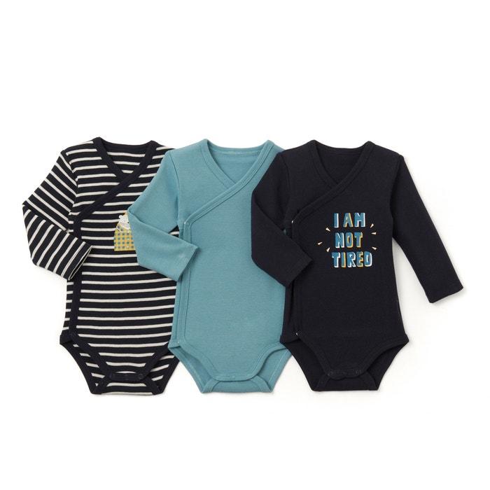 Lote de 3 bodies para bebé, 0 mês - 3 anos  La Redoute Collections image 0
