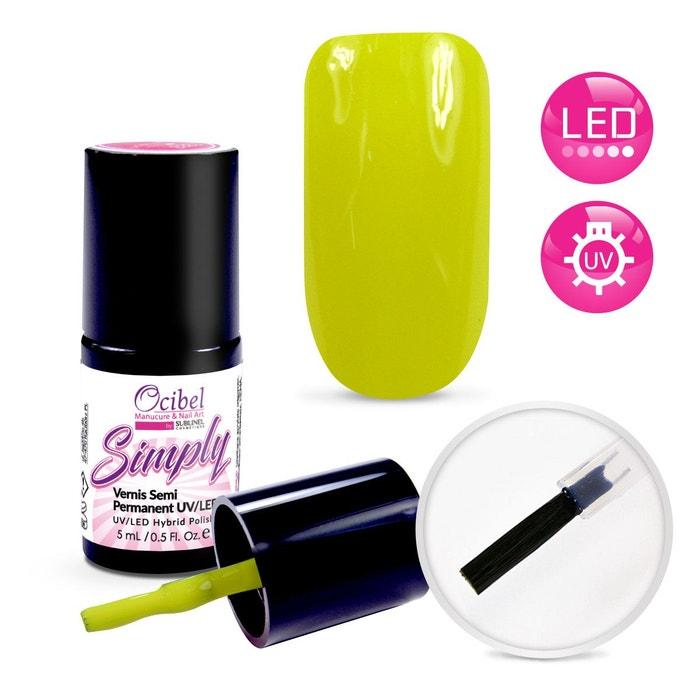 Vernis Semi Permanent UV LED Simply 1 Couche 5ml Jaune Fluo #2675