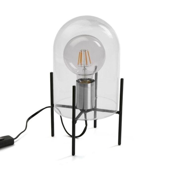 Lampe Sous Cloche lampe design sous cloche de verre transparente versa | la redoute