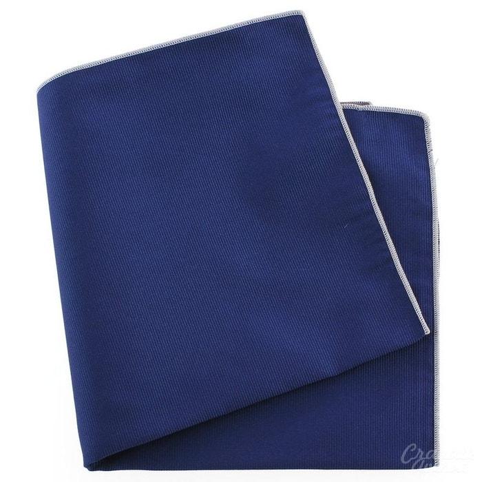Pochette soie, bleu royal, ourlet rose crocus bleu Tony Et Paul | La Redoute