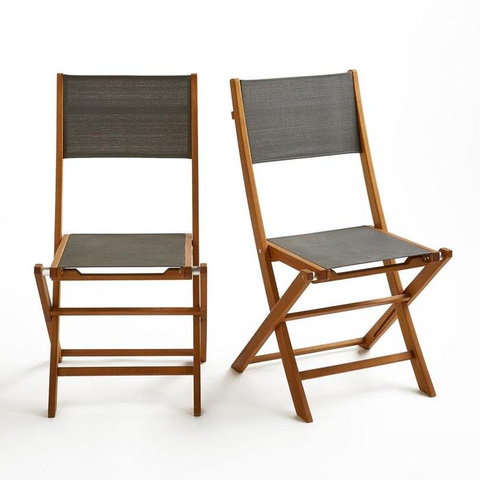 Chaise de jardin pliante lot de 2 exodor la redoute interieurs la redoute - Chaise pliante salon ...