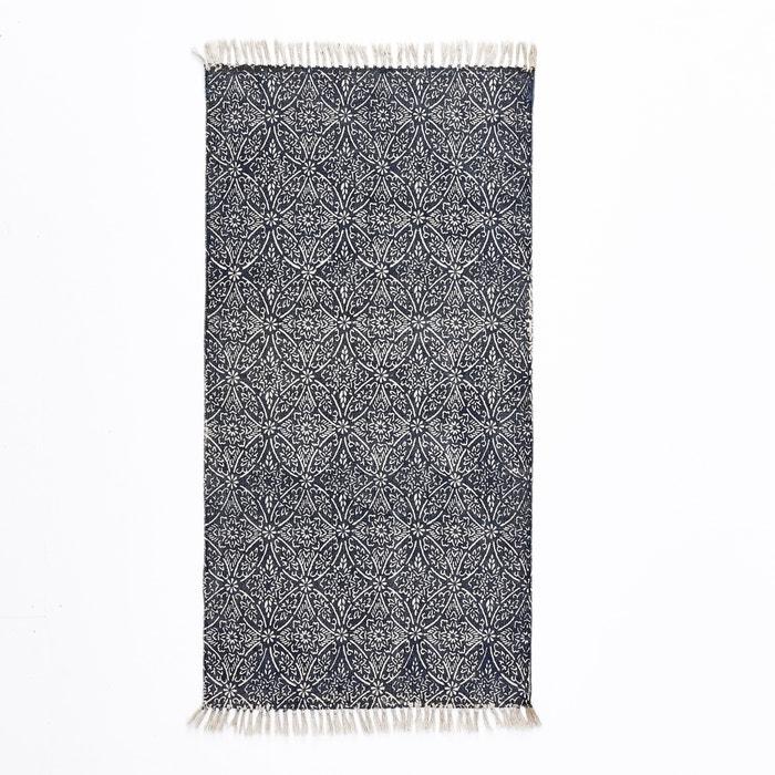 tapis de couloir coton imprim darno bleu cru la redoute interieurs la redoute. Black Bedroom Furniture Sets. Home Design Ideas
