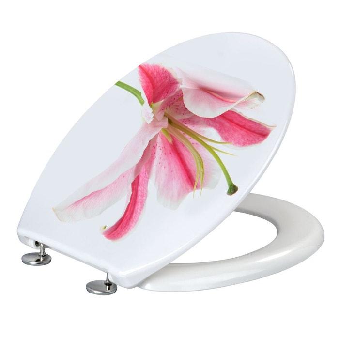 9e14793286 Abattant wc orchidée - duroplast - blanc et rose blanc Wenko   La Redoute