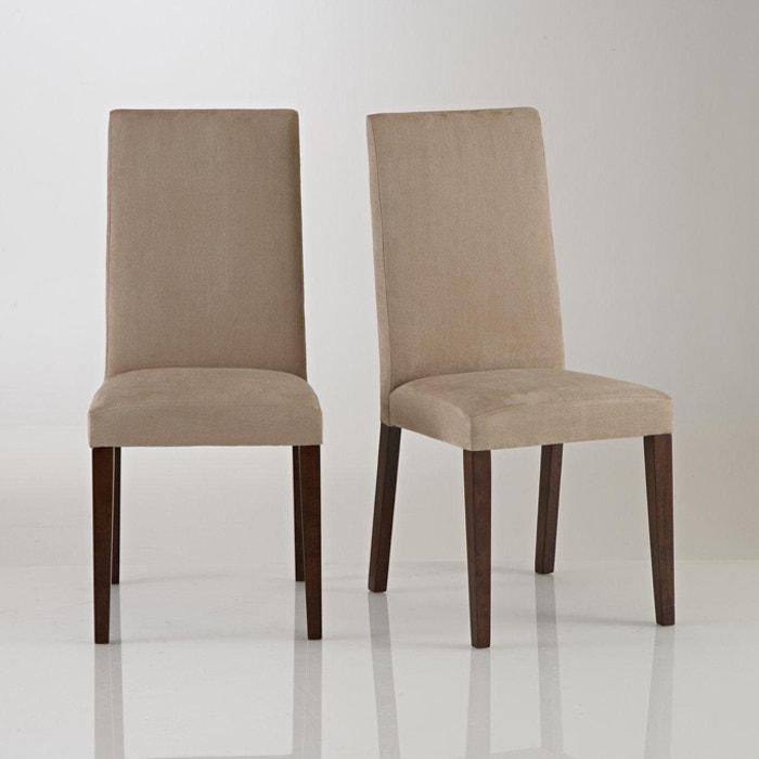 chaise microfibre lot de 2 hartford la redoute interieurs la redoute. Black Bedroom Furniture Sets. Home Design Ideas