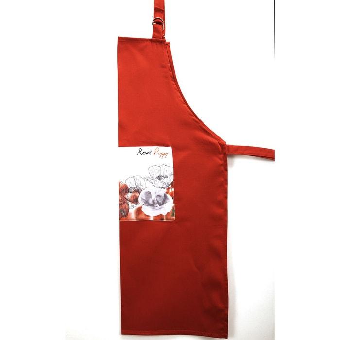 Tablier Cuisine Grande Poche Poppy Rouge
