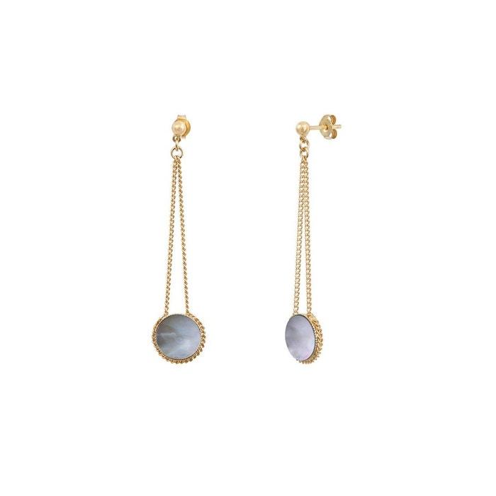 Boucles d'oreilles longues dorées à l'or fin nacre grise lady gris Caroline Najman | La Redoute Prix De Gros Pas Cher gpzB3XRW