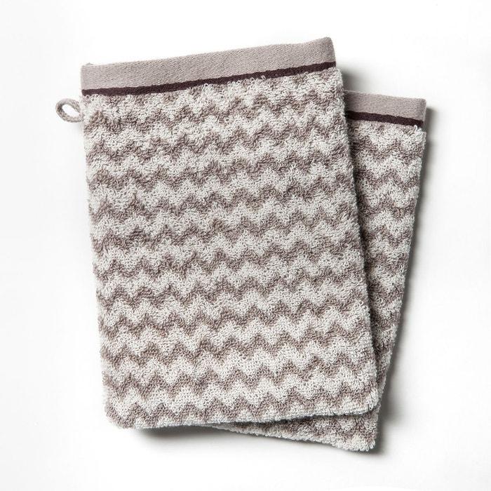 gants de toilette 500 g m lot de 2 cabrio la redoute interieurs la redoute. Black Bedroom Furniture Sets. Home Design Ideas