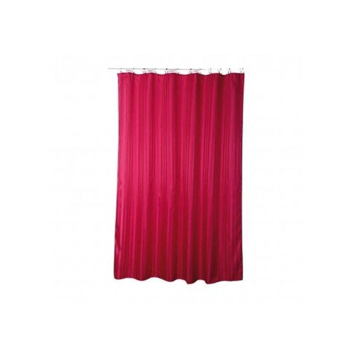 rideau de douche uni en polyester fushia home bain la. Black Bedroom Furniture Sets. Home Design Ideas