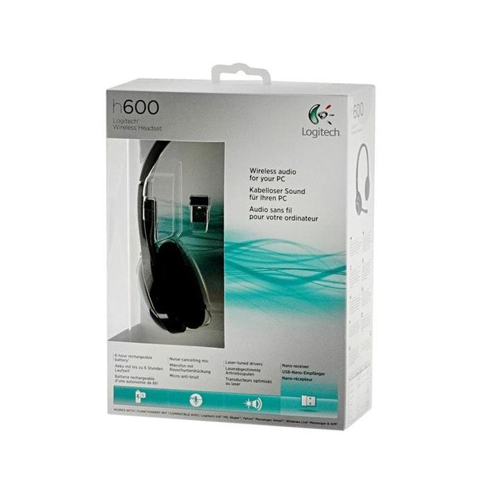 micro casque logitech h600 sans fil logitech la redoute. Black Bedroom Furniture Sets. Home Design Ideas