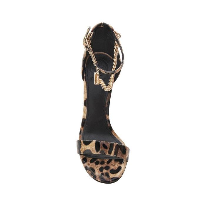Sandales konceta animalier léopard Guess