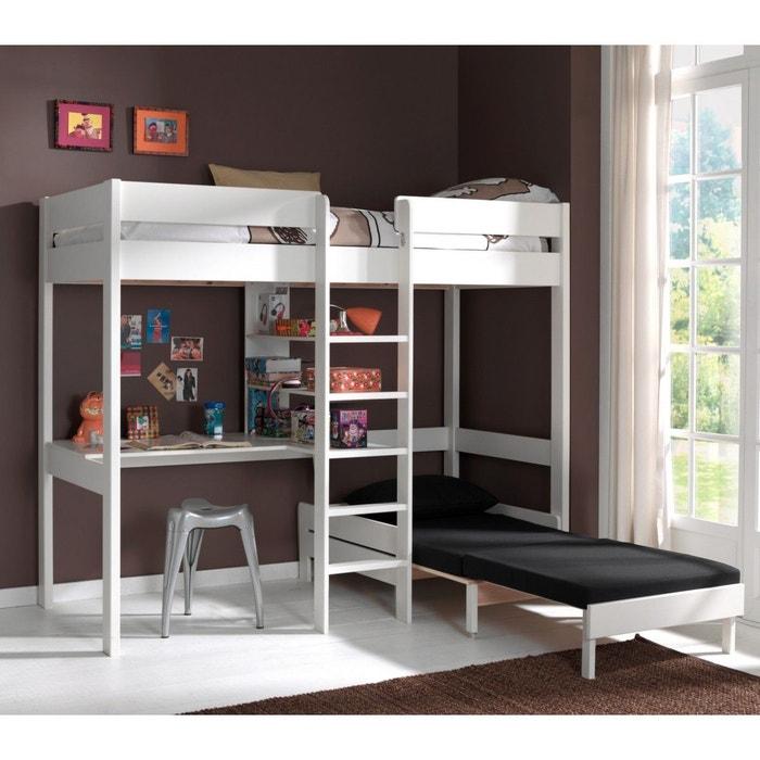 lit enfant superpos convertible pin blanc 90x200 blanc terre de nuit la redoute. Black Bedroom Furniture Sets. Home Design Ideas
