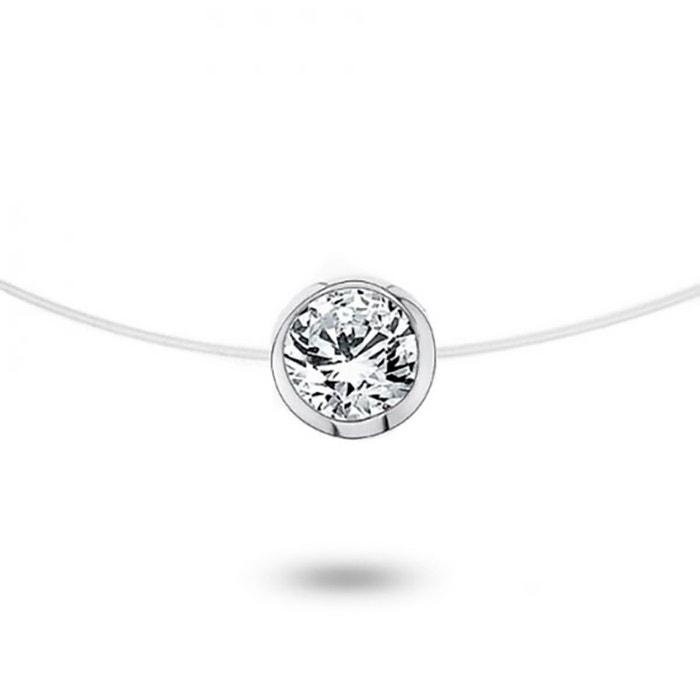 Collier or 750/1000 diamant 0,05 ct blanc Cleor | La Redoute