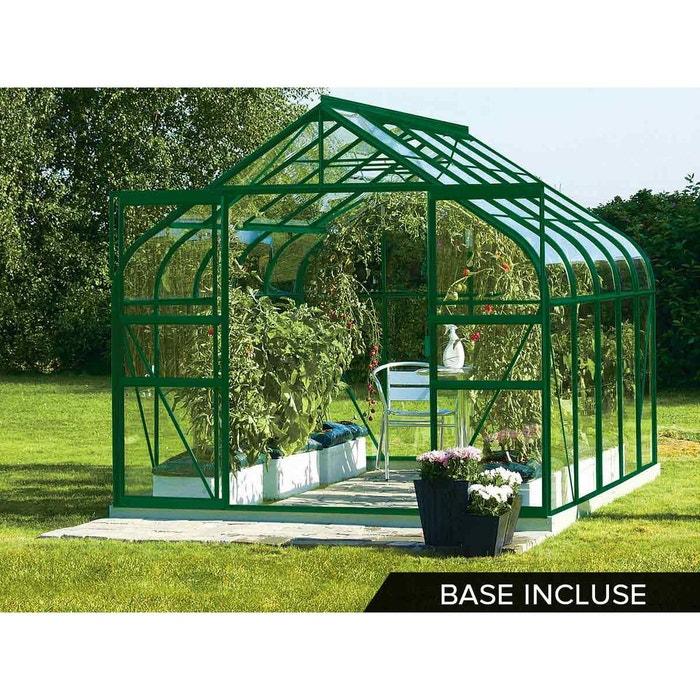 Serre de jardin en verre diana 9,80 m² + base - vert Lams | La Redoute
