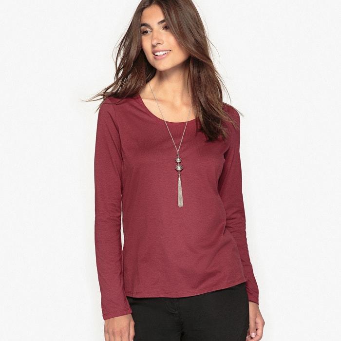 T-shirt con scollo rotondo tinta unita, maniche lunghe  ANNE WEYBURN image 0