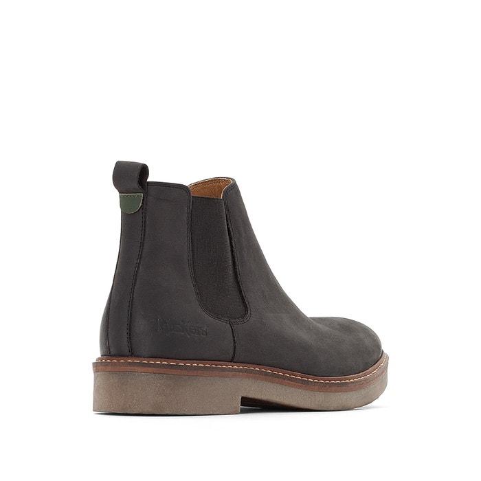 8f5ea12e Oxfordchic leather ankle boots , black, Kickers | La Redoute