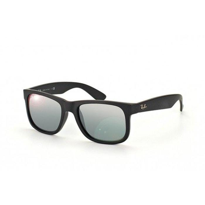 lunettes de soleil ray ban justin noir effet miroir rb4165 rb4165 622 6g 55 16 gris ray ban la. Black Bedroom Furniture Sets. Home Design Ideas