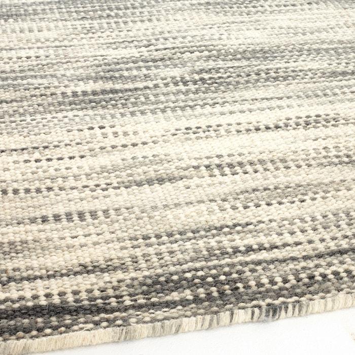 teppich pic ne kelim stil wolle flach gewebt grau am. Black Bedroom Furniture Sets. Home Design Ideas