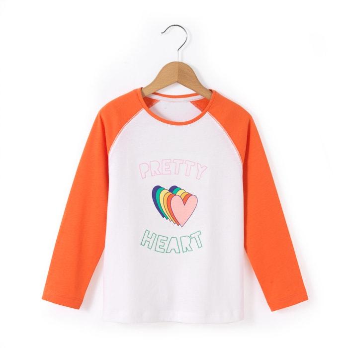 afbeelding T-shirt met lange mouwen en hartjes print 3-12 jr abcd'R