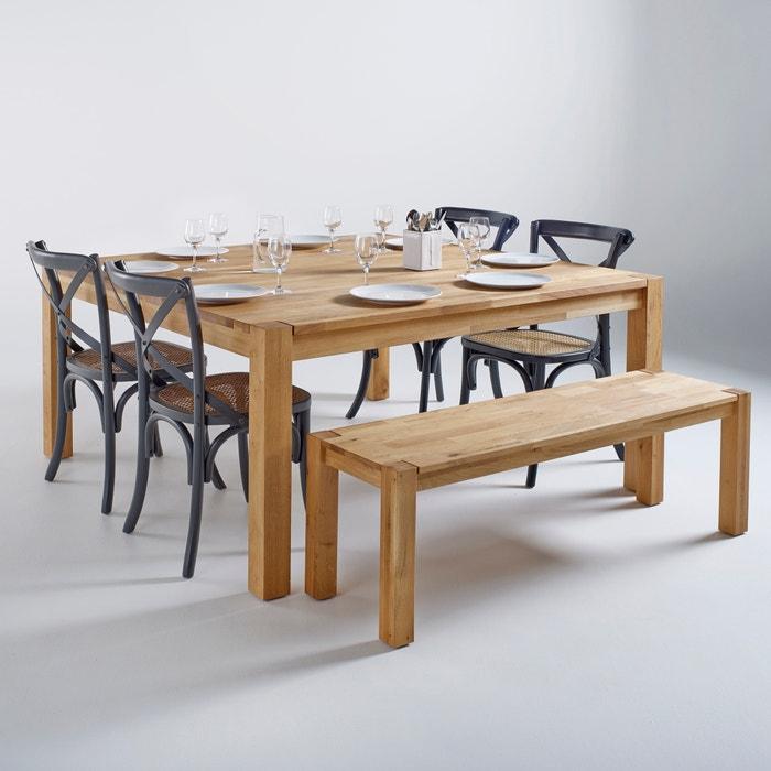 Image Table carrée, chêne massif, 8 couverts, Adelita La Redoute Interieurs