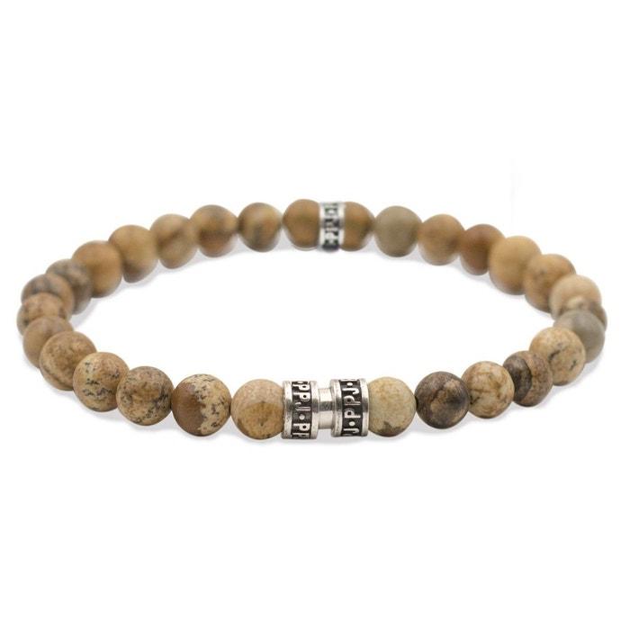 Bracelet perles jaspe paysager d'afrique du sud moutarde Pierre Paul Jacques   La Redoute Livraison Gratuite Classique Grande Remise En Ligne zEfE0