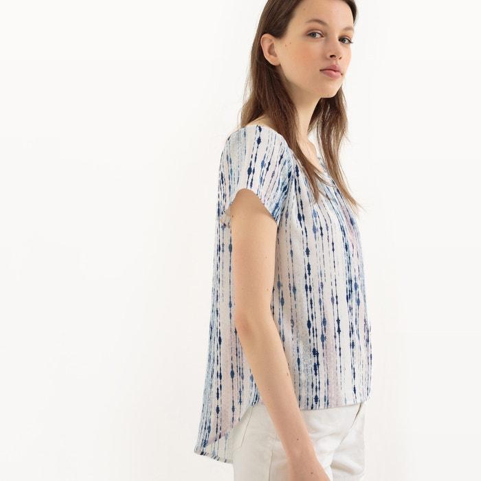 536766fba5fc4 Blusa con hombros descubiertos y manga corta blanco azul Lpb Woman ...