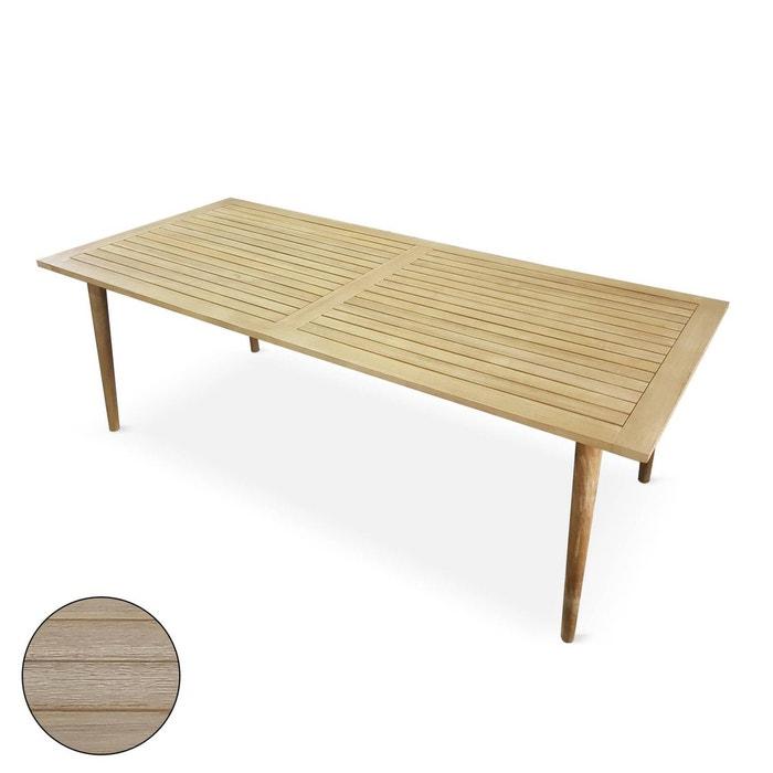 Table de jardin rectangulaire 220cm, rio, bois finition brossée ...