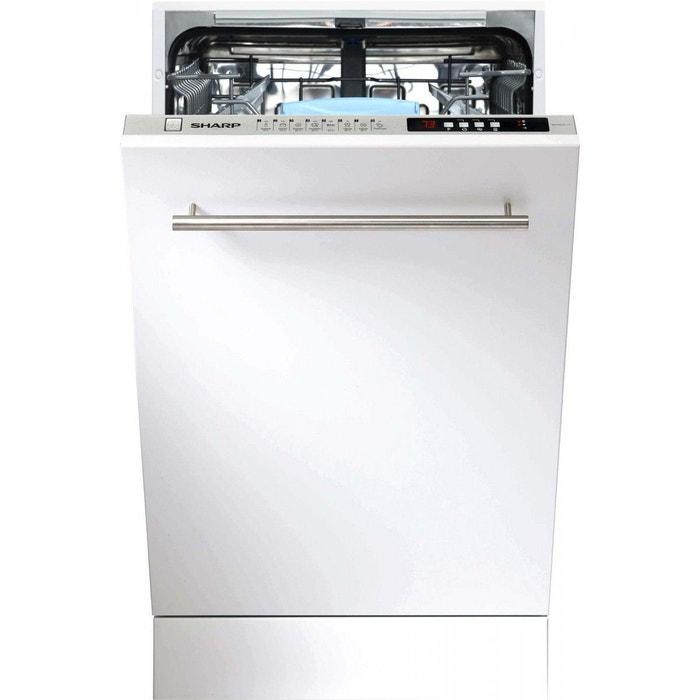 lave vaisselle tout integrable 45 cm qws 32 i 472 x blanc sharp | la