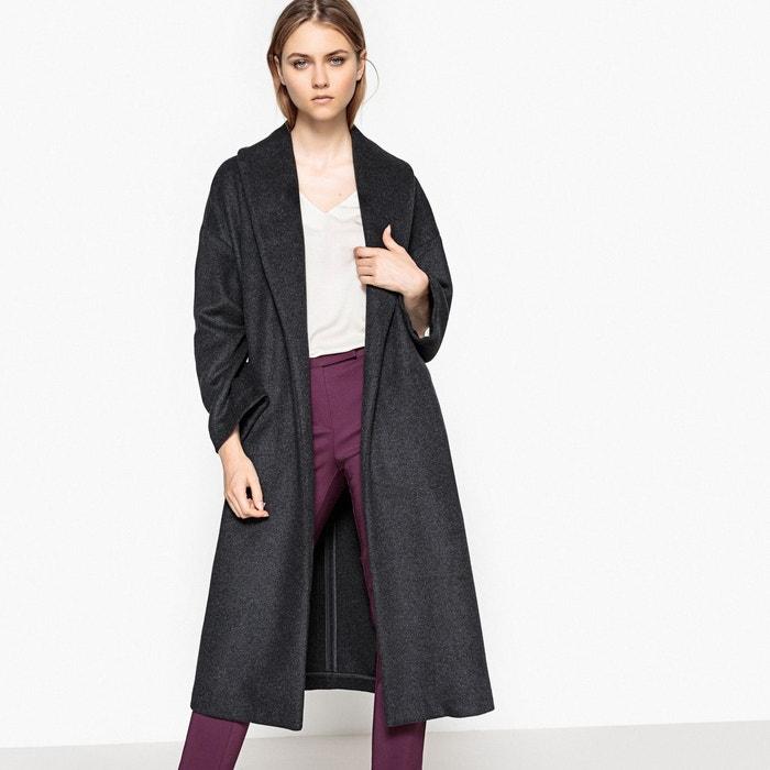 Manteau long col châle à ceinturer 52% laine La Redoute Collections