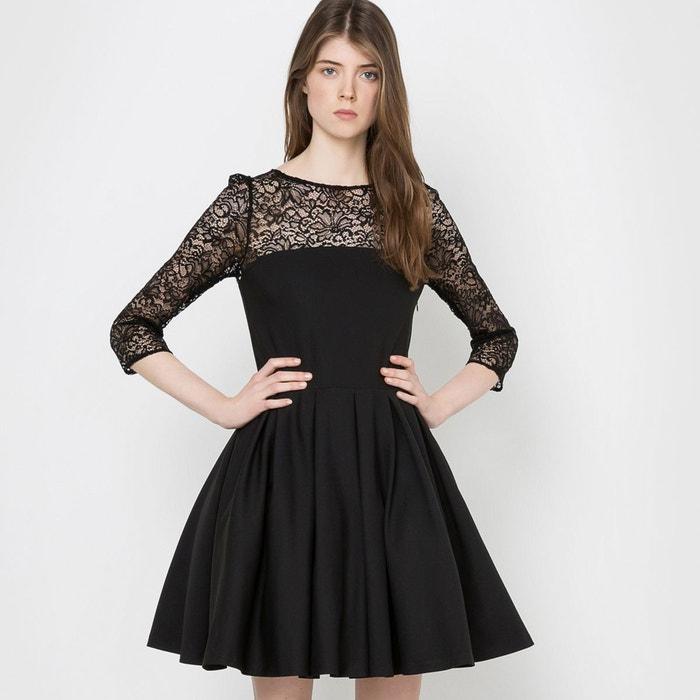 robe de soir e haut dentelle noir mademoiselle r la redoute. Black Bedroom Furniture Sets. Home Design Ideas