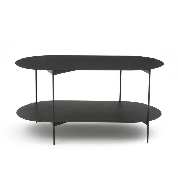 table basse double plateaux en acier oblone noir la redoute interieurs la redoute. Black Bedroom Furniture Sets. Home Design Ideas