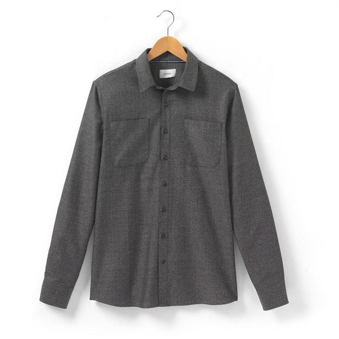 afbeelding Effen hemd met lange mouwen SOFT GREY