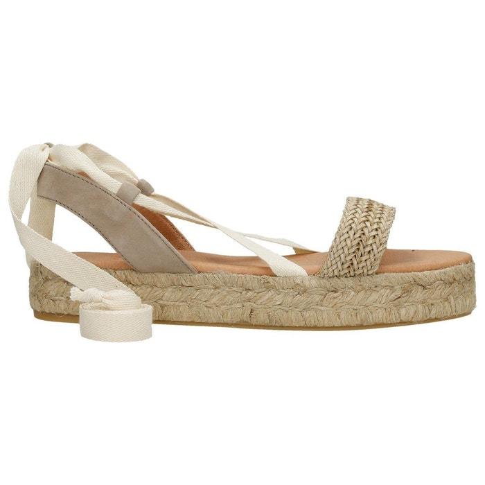 Sandale raphia erika  beige Polka Shoes  La Redoute